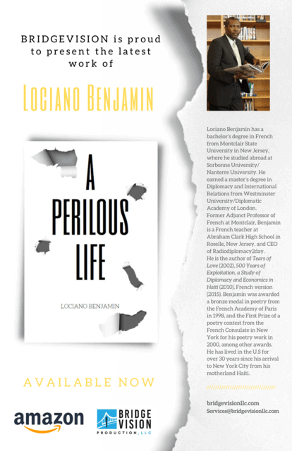 """Read more about the article Mr. Lociano Benjamin's New Novel Entitled, """"A Perilous Life"""""""